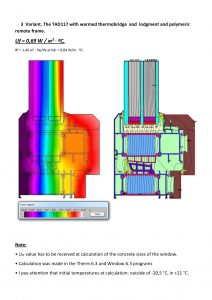 thermo technical calculation of TAD117-3