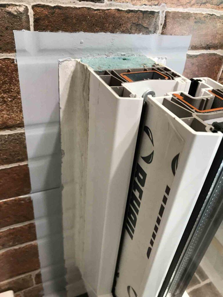 Приклад теплого монтажу вікон (по ДСТУ) із герметиками