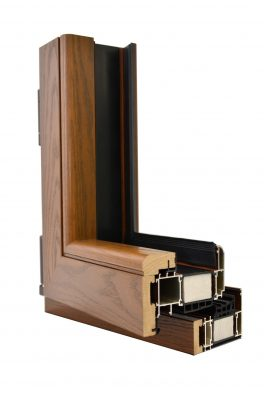 Розріз профілю вікна TAD-117